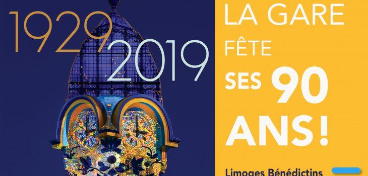 enluminures fête les 90 ans de la gare de Limoges Bénédictins